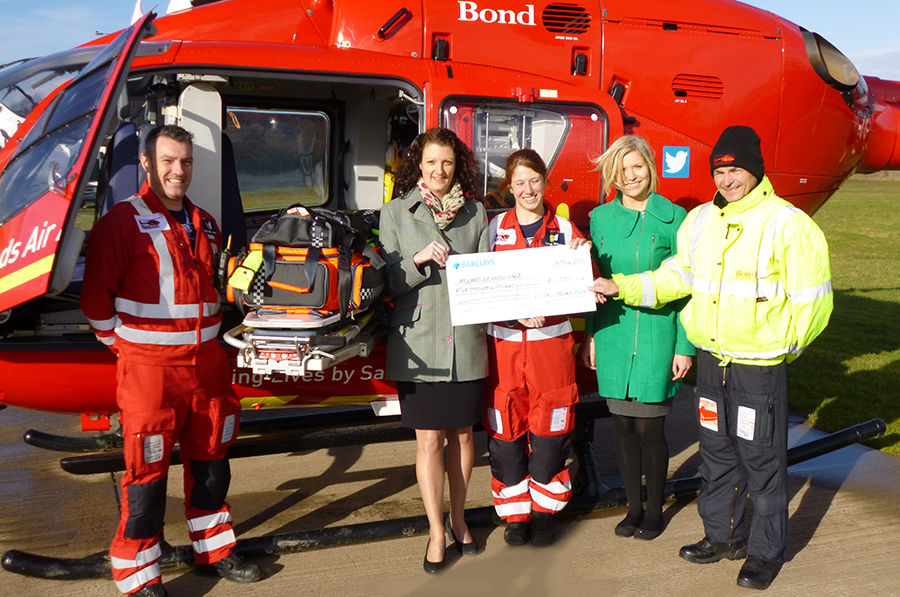 L-3 TRL Midlands Air Ambulance donation